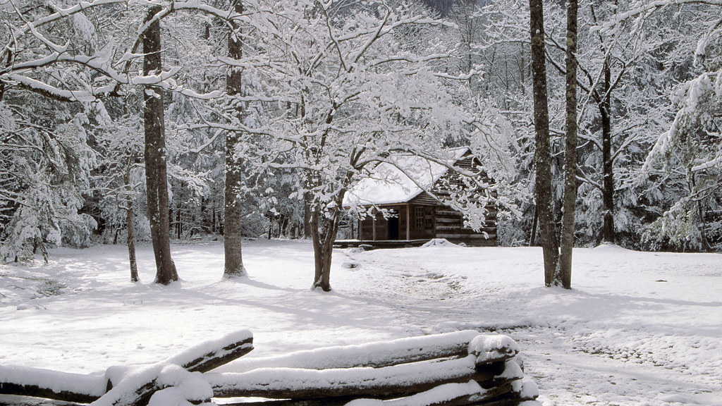 Carter Shields Cabin In Winter Great Smoky Mountains Nati Flickr