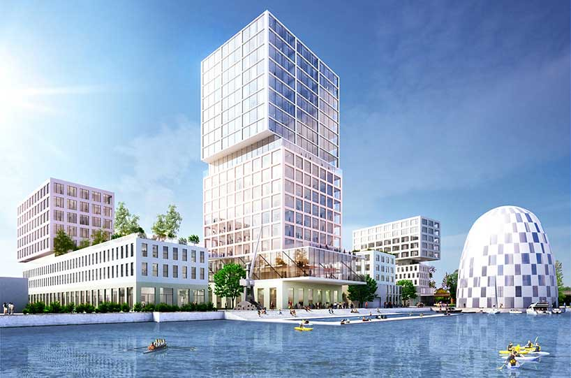 Квартал Hamburg innovation port в Гамбурге от MVRDV