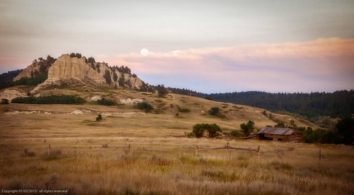 moonrise over the butte | by Father Tony