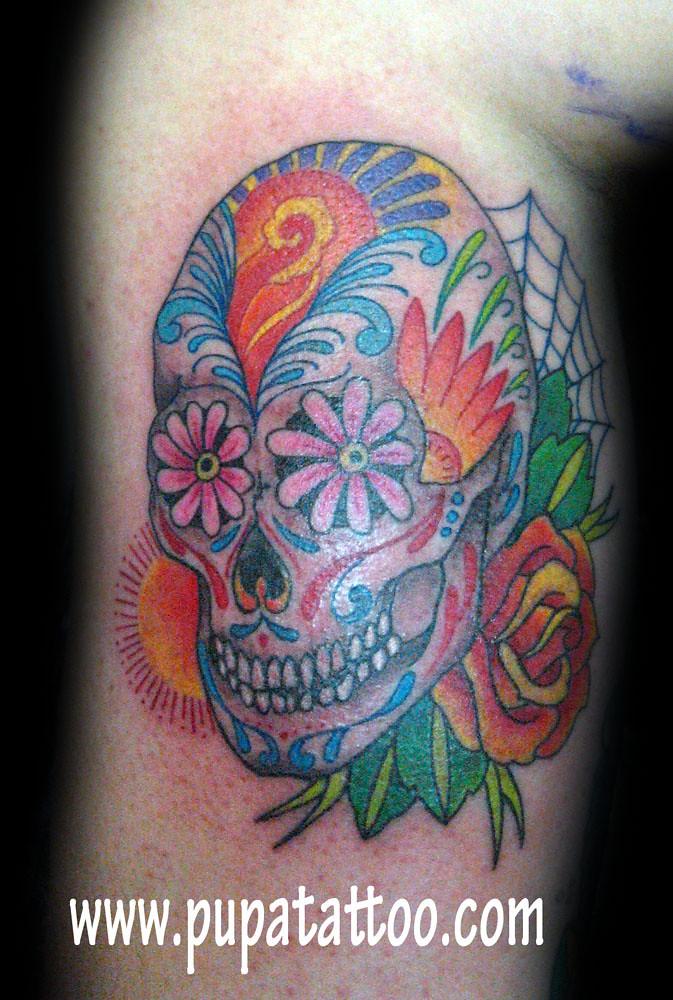 Tatuaje Calavera De Azucar Pupa Tattoo Granada Pupa Tattoo Flickr
