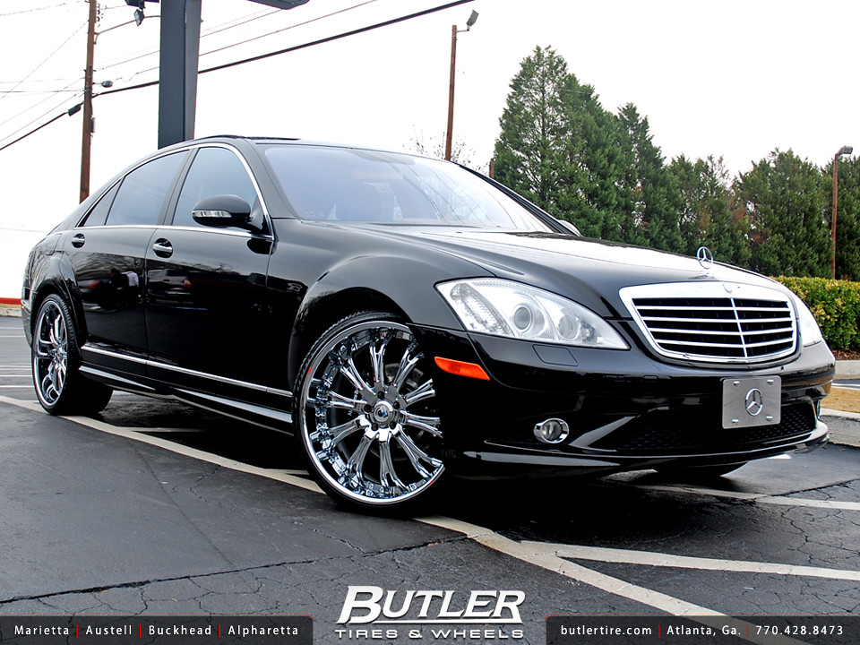 Mercedes benz s550 with 22in asanti af148 wheels for Mercedes benz s550 rims