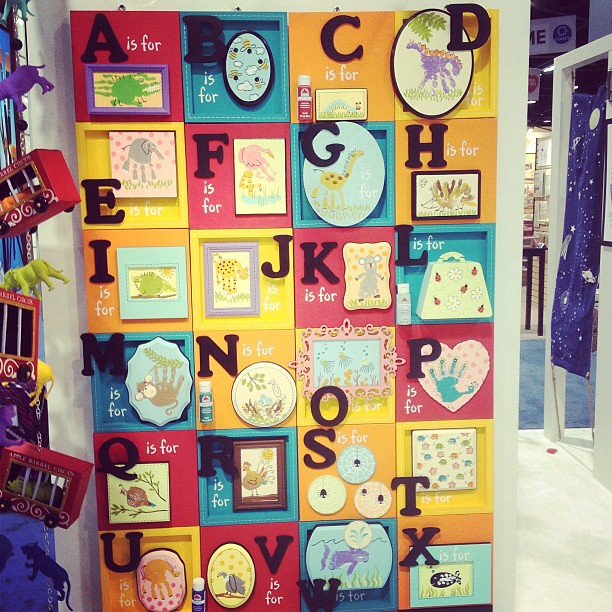 Cute handprint alphabet wall art from @plaidcrafts at #cha… | Flickr