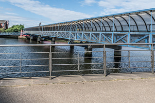 LAGAN RAILWAY PLUS PEDESTRIAN BRIDGE IN BELFAST [TWO FOR THE PRICE OF ONE]--121120 | by infomatique
