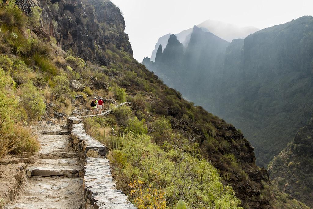Trekking in Barranco del Infierno - Tenerife, Spain