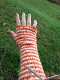 Simple Striped Arm Warmers | by TravelingAnn