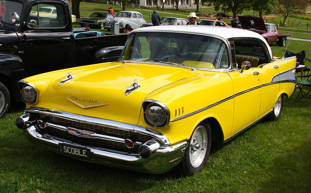 1957 Chevy Bel Air Bright Yellow Really Suits A 57 Chevy