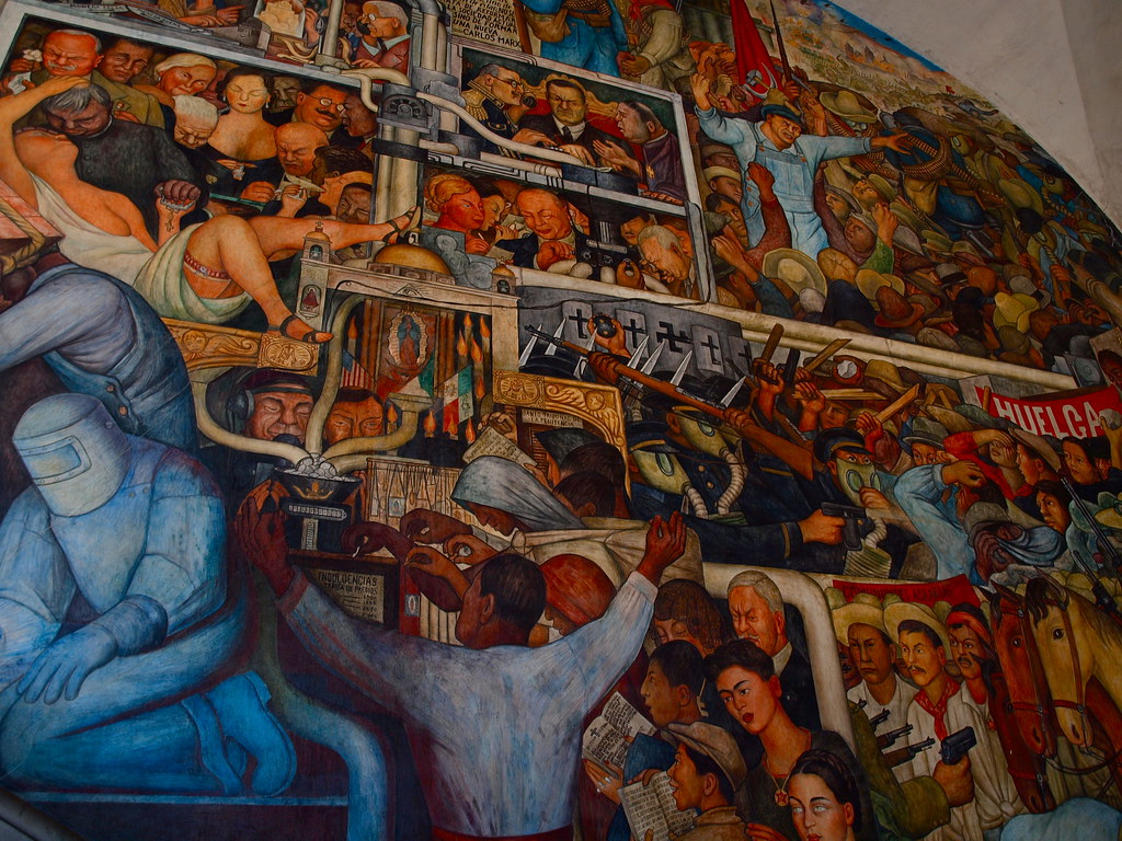 Mural de diego rivera palacio nacional mexico city for Mural de rivera