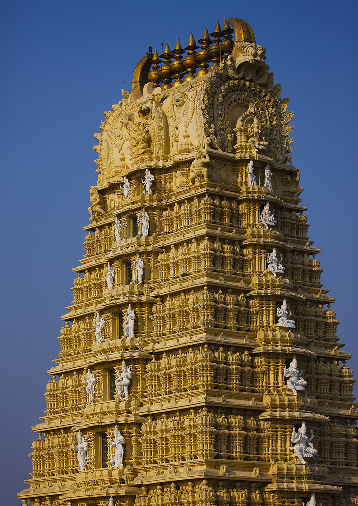 Gopuram Of The Ancient Dravidinian Style Lakshmi Ramana Sw