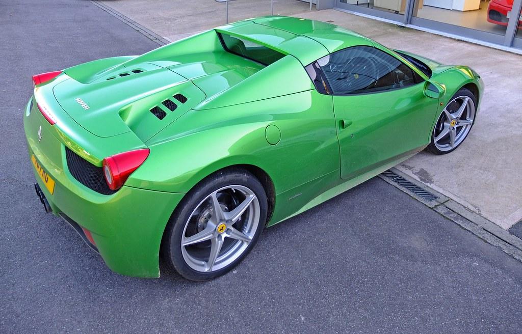 green ferrari 458 spider by czd72 - Ferrari 458 Spider Green