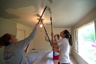 Big Event Volunteers Painting Ceiling | by Texas A&M WWW