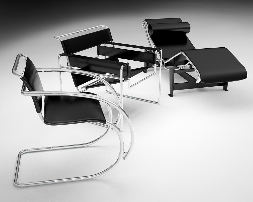 Bahuaus chairs 3d models collection Marcel breuer chair Flickr
