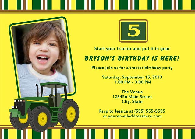John Deere Tractor Invitations is beautiful invitation example