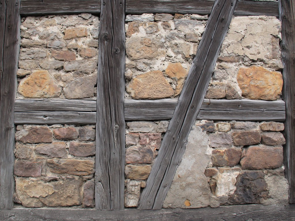 Stone Filling Of A Half Timbered Wall Linda Flickr