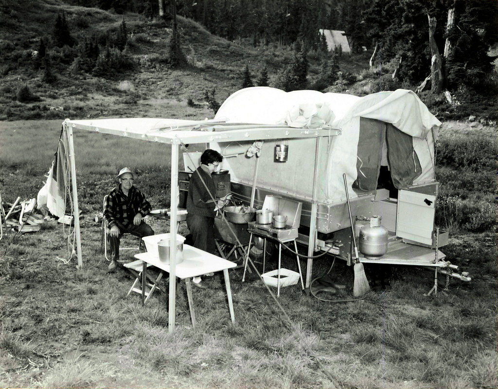 Glacier Ranger District, Mount Baker National Forest. Heather Meadows during Labor Day weekend 1965.