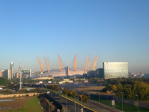 millennium dome o2 arena north greenwich views from. Black Bedroom Furniture Sets. Home Design Ideas