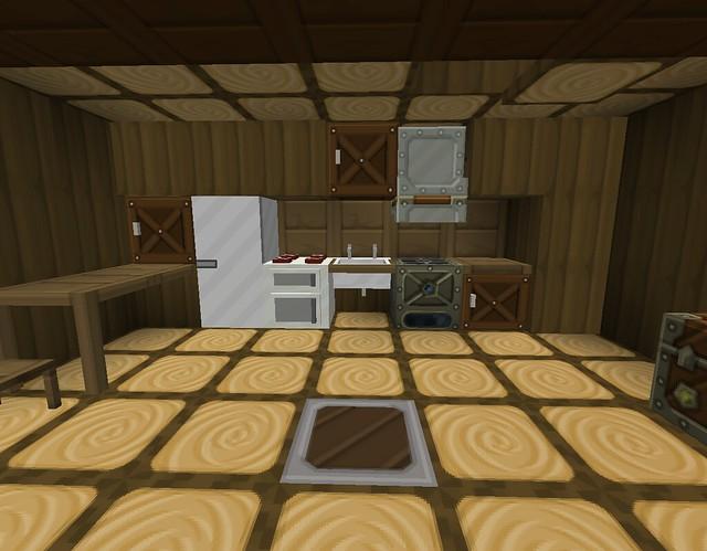 Minecraft kitchen flickr photo sharing for Kitchen designs in minecraft