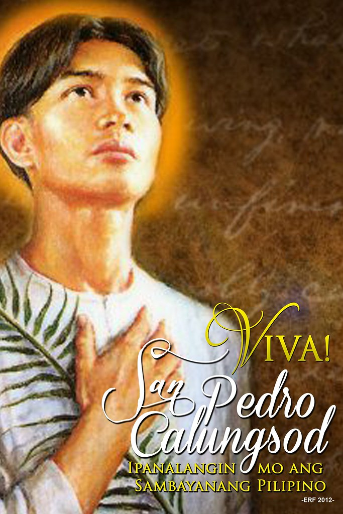 san pedro calungsod The church in the philippines rejoices today with the entire christendom as it celebrates the feast of the second filipino saint and martyr, saint pedro calungsod.