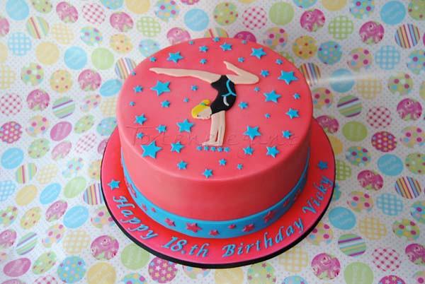 Torte F 252 R Eine Turnerin Gymnast Cake Torteneleganz