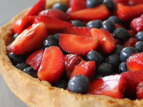 Berry and ricotta tart close up | by PiPs75