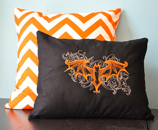 Going Batty Pillow | by quilted thimble cottage