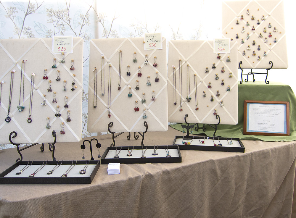diy jewelry display ideas for craft shows leaf festival booth display jewelry margaret 8056