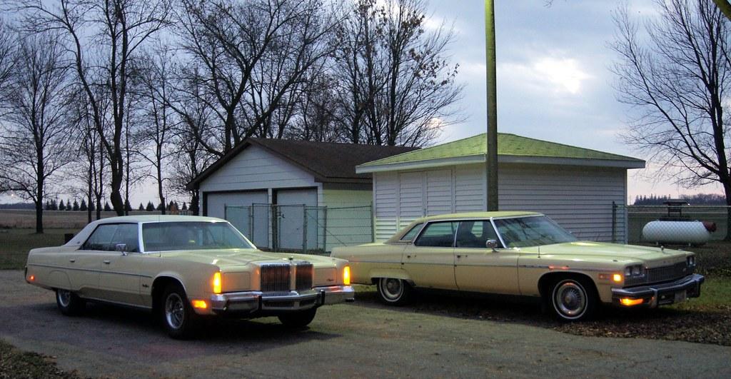 1976 Buick Electra Park Avenue & 1978 Chrysler New Yorker ...