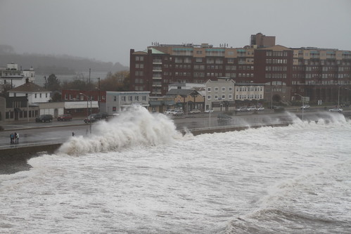 Waves crashing on Nantasket Beach in Hull, MA - Hurricane Sandy | by jeffcutler