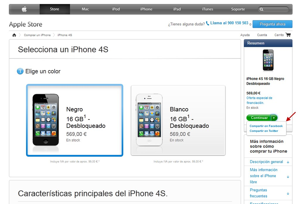Comprar Iphone  Financiado