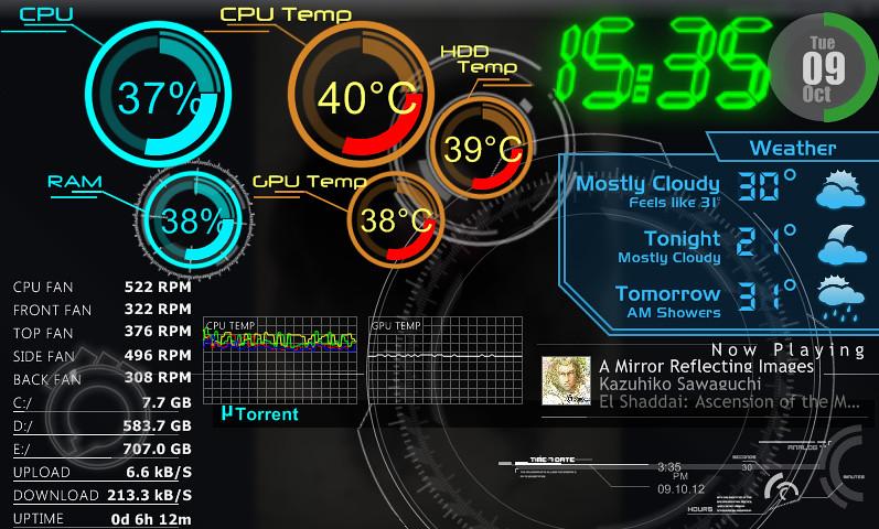 Rainmeter Rainmeter On My Third Screen A 7 Inch Usb