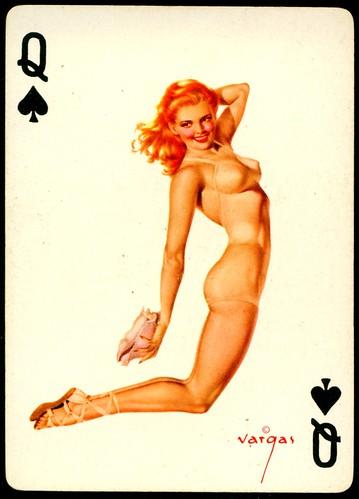 Girl playing card interesting