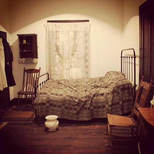 Bedroom inside the AHC's 1890s Dixon-King House | Atlanta