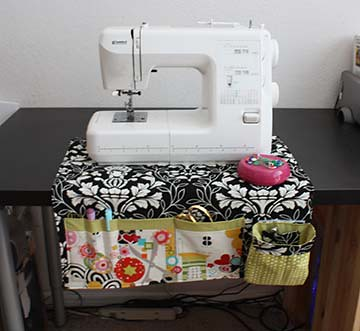 White Sewing Machine Craft Table