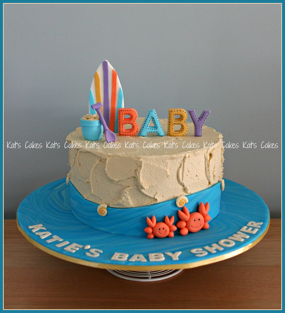 ... Beach Themed Baby Shower Cake | By Katu0027s Cakes