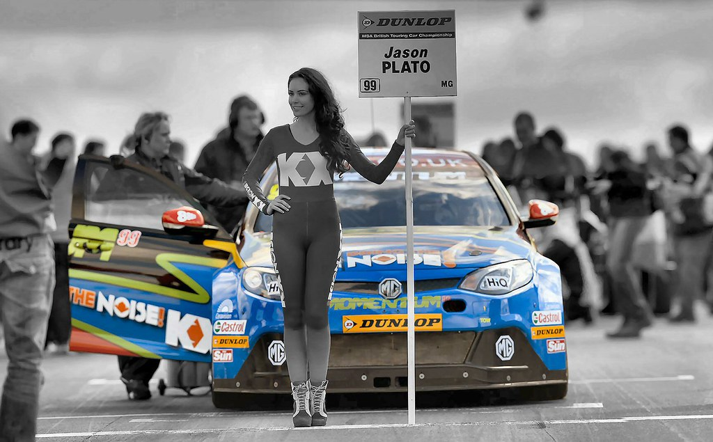British Touring Cars Grid Girl Jason Palto  MGMotor