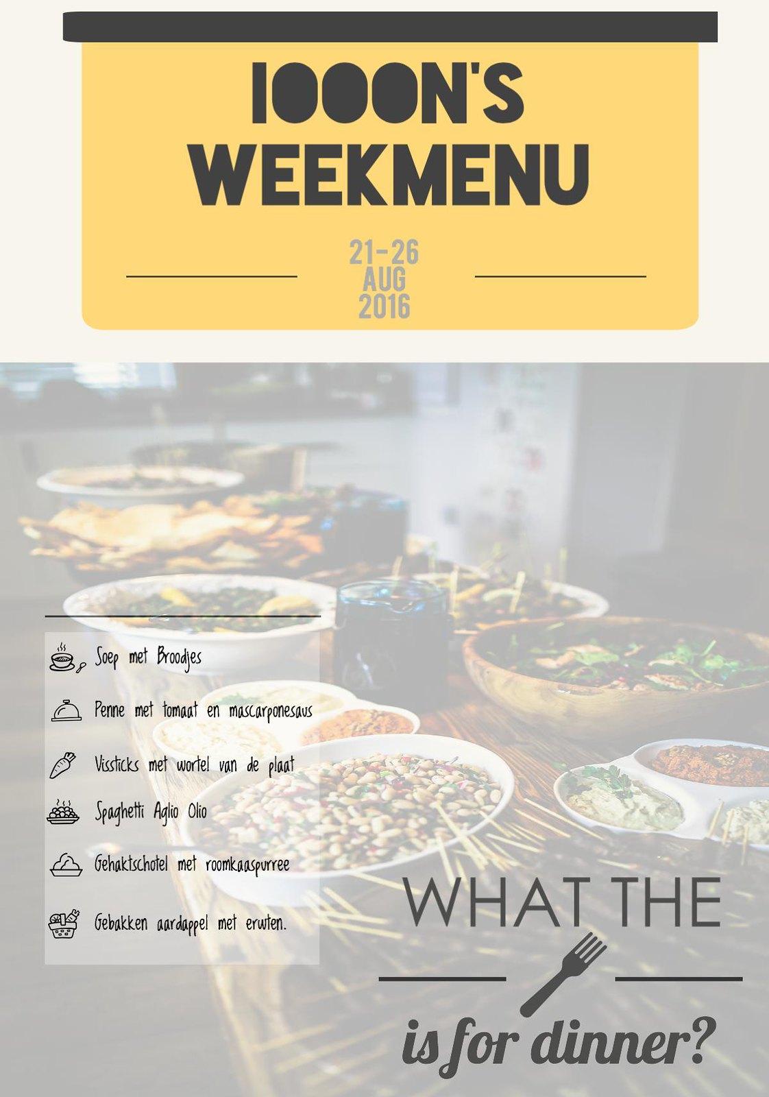 Weekmenu infogram Blog wat zullen we eten