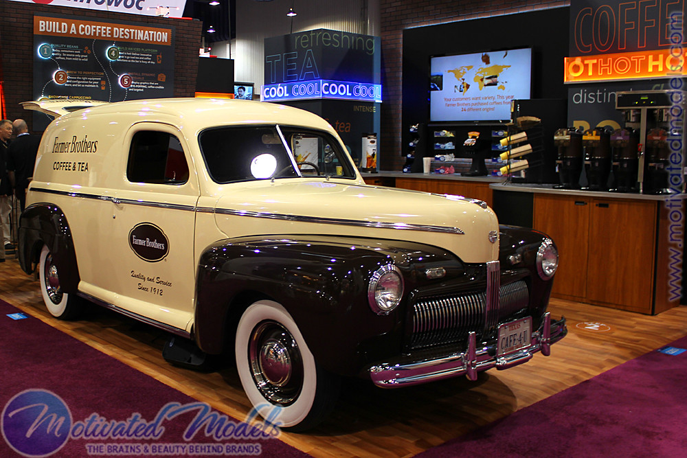 NACS Farmer Brothers Coffee trade show booth car las vegas… | Flickr