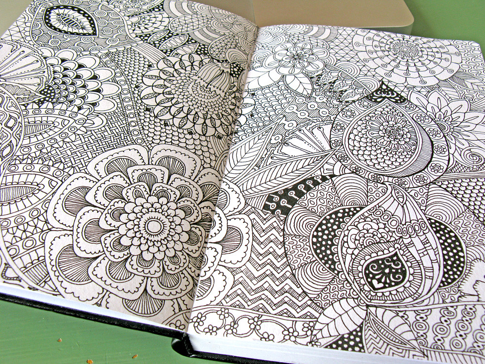 sketchbook1 full page of doodles i love doing this soon flickr