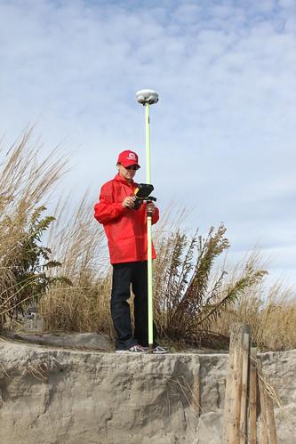 Surveying Stone Harbor | Survey technician Angelica De ...