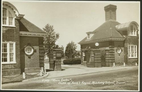 Postcard: The Main Gate, Duke of York's Royal Military Sch ...