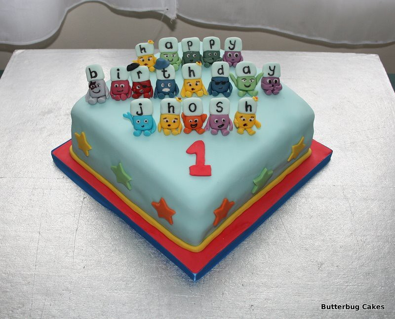 Alphablocks Birthday Cake
