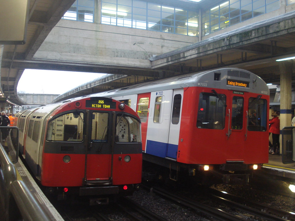 1973 Stock And D78 Stock At Acton Town Platforms 2 And 3