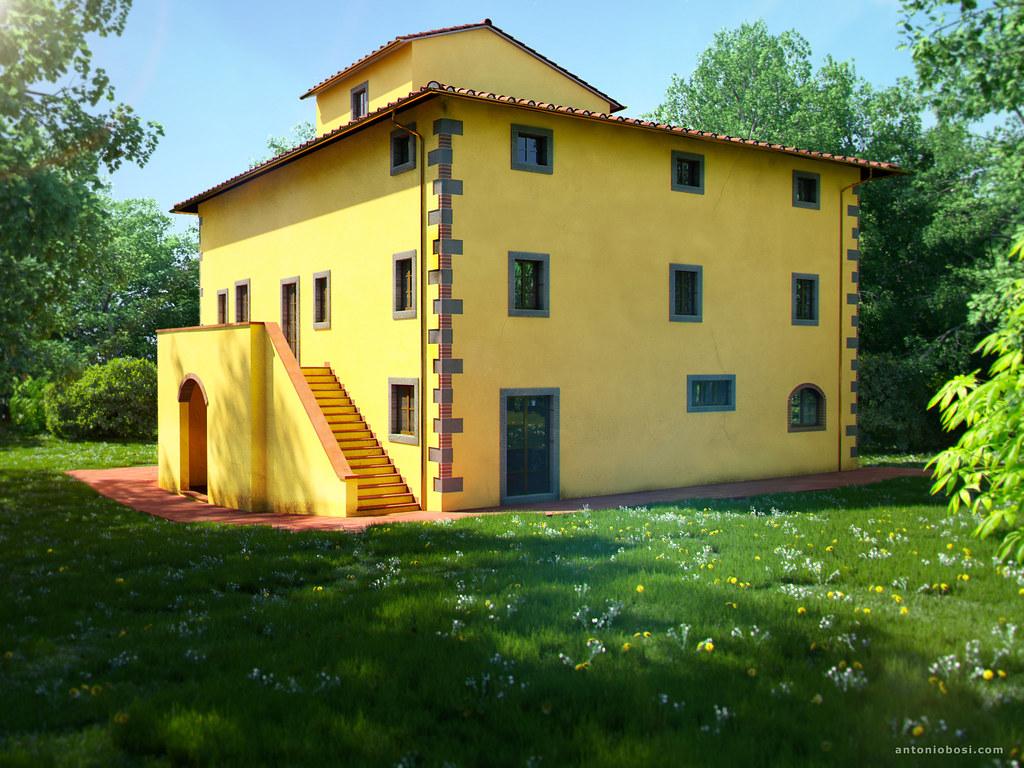 Italian Tuscan Villa Leopoldina 3d Exterior Render Flickr
