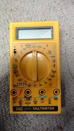 how to use dick smith multimeter