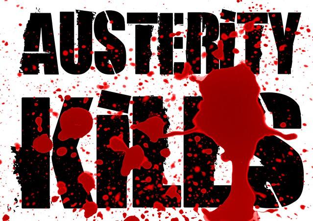 Austerity kills - poster