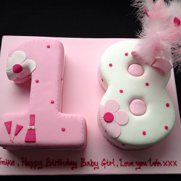 Number 18 Birthday Cake #18 #number #birthday #cake