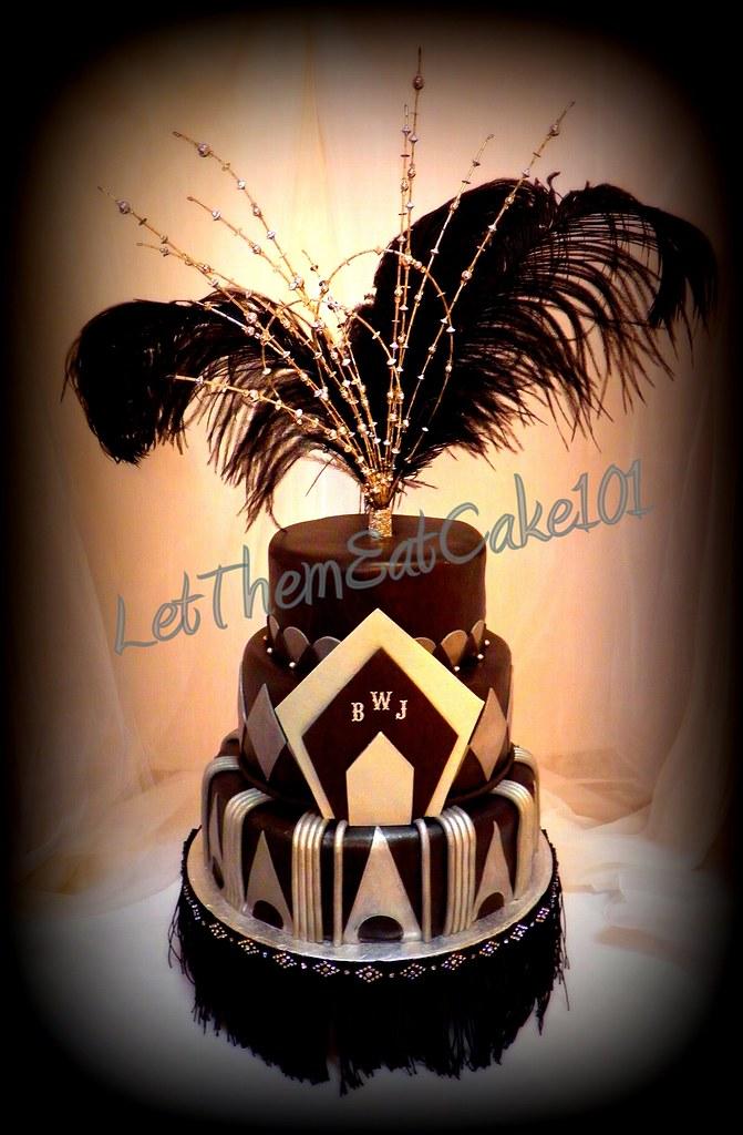 Art Deco Themed Cake : Art Deco Great Gatsby Cake juliequeen77 Flickr