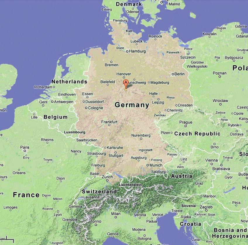 google map of germany showing location of einbeck red pi flickr. Black Bedroom Furniture Sets. Home Design Ideas