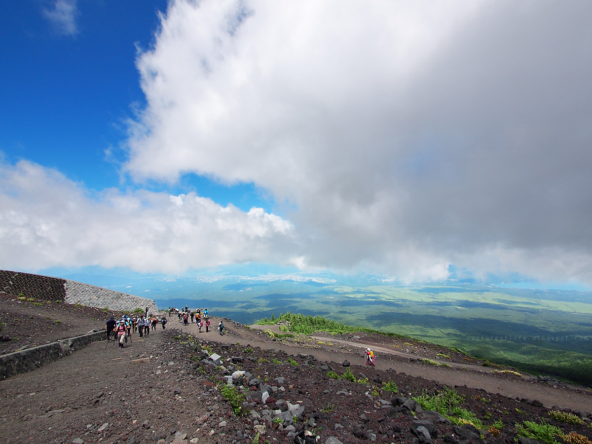 富士山六合目往七合目