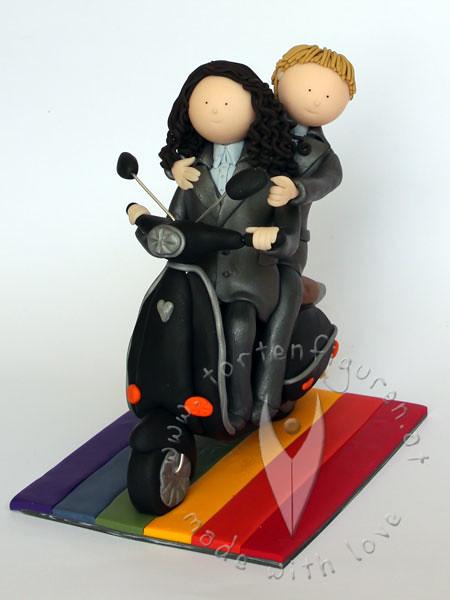 Frauen Brautpaar Auf Motorroller Tortenfiguren Flickr