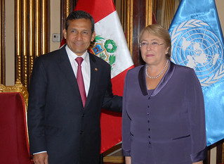 UN Women Executive Director Michelle Bachelet meets with Peruvian President Ollanta Humala Tasso during her two-day visit to the country on 16 October 2012 | by UN Women Gallery